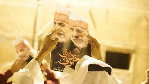 برگزاری تظاهرات در بحرین به مناسب سالگرد شهادت سرداران مقاومت ، شهیدان سلیمانی و المهندس