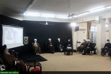 دیدار مدیر گروههای جهادی مدارس علمیه اهواز با آیتالله موسوی جزایری