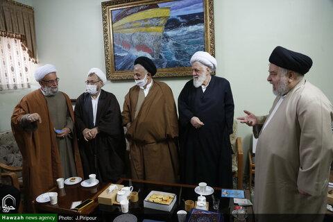 القائمين على مؤتمر آية الله العظمى السيد محمود الحسيني الشاهرودي (ره) يلتقون بممثل آية الله العظمى السيستاني بقم المقدسة
