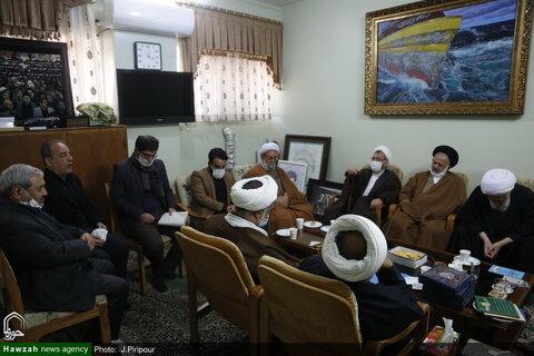 القائمون على مؤتمر آية الله العظمى السيد محمود الحسيني الشاهرودي (ره) يلتقون بممثل آية الله العظمى السيستاني بقم المقدسة