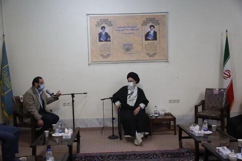 تصاویر/ دیدار مجریان طرح شهید حاج قاسم سلیمانی در مقابله با ویروس کرونا با آیت الله بوشهری