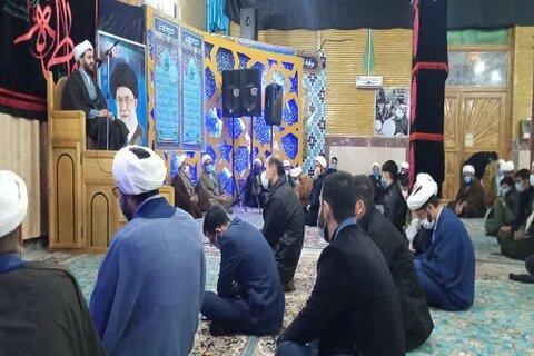 حجت الاسلام برقراری در جمع سوگواران فاطمی حوزه علمیه کرمانشاه