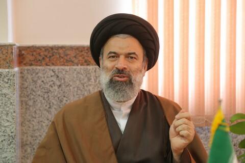 تصاویر / مصاحبه با حجه الاسلام والمسلمین واحدی ( حوزه علمیه خواهران )