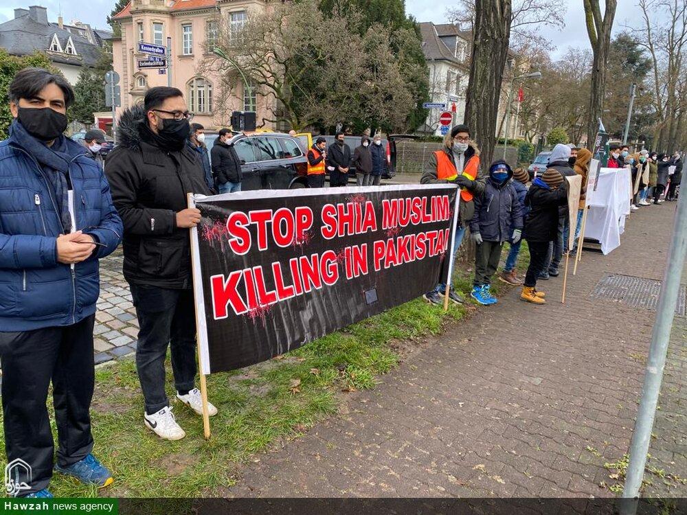 تصاویر/ جرمن کے فرینکفورٹ شہر میں پاکستانی قونصلیٹ کے سامنے سانحہ مچھ کے خلاف احتجاجی مظاہرہ