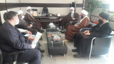جلسه معاون تبلیغ حوزه علمیه و رئیس عقیدتی فرماندهی انتظامی تهران