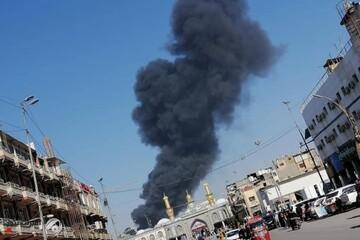 نشوب حريق وسط محافظة كربلاء +الصور