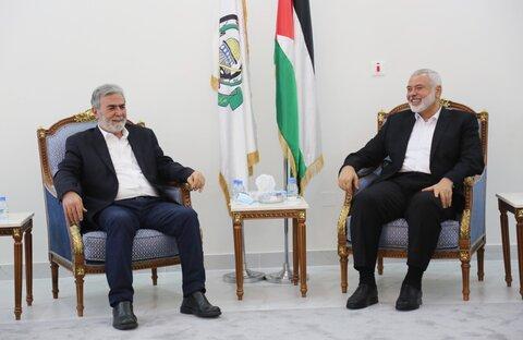 اسماعیل هنیه و زیاد النخاله فلسطین