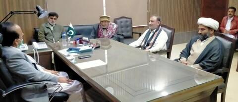 علامہ مقصود علی ڈومکی کی وفد کے ہمراہ ڈپٹی کمشنر جیکب آباد ڈاکٹر حفیظ احمد سیال سے ملاقات