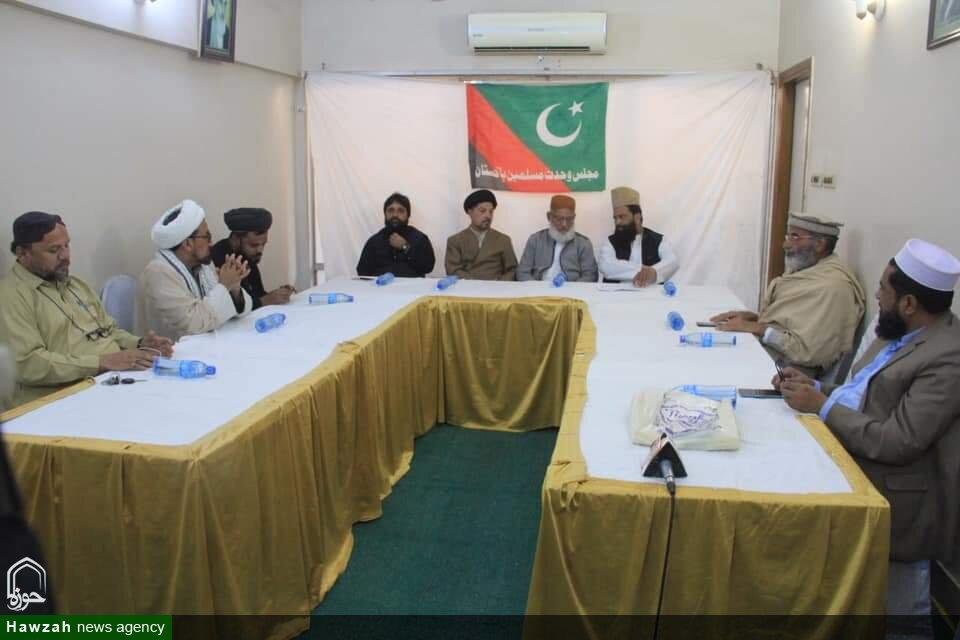 تصاویر/ ملی یکجہتی کونسل سندھ کے وفد کی ایم ڈبلیو ایم رہنماؤں سے ملاقات