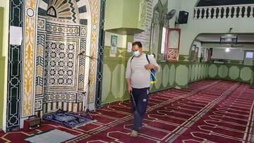 آماده سازی مساجد مصر برای اقامه نماز +تصاویر