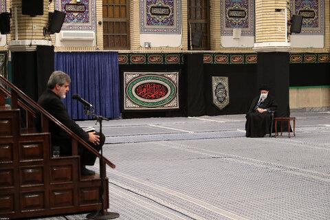 تصاویر/ نخستین شب مراسم عزاداری ایام شهادت حضرت فاطمه زهرا سلام الله علیها با حضور رهبر انقلاب