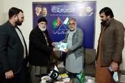 علامہ حسن ظفر نقوی کا وحدت ہاؤس اسلام آباد کادورہ، سردارِ شہدائے مدافعان حرم کے حالات زندگی پر شائع کردہ کتاب خدمت میں پیش کی گئیں