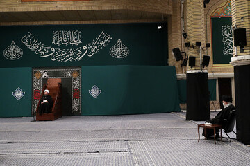 فیلم | مداحی حجتالاسلام ناصر شهیدی در حضور رهبر معظم انقلاب