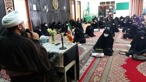 مراسم عزاداری ایام فاطمیه در مدرسه علمیه خواهران کوی علوی اهواز