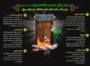 اینفوگرافیک | سبک زندگی حضرت زهرا (س) در بیان رهبر انقلاب