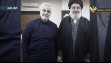 فیلم | آخرین دیدار حاجقاسم با سید حسن نصرالله دو روز پیش از شهادت