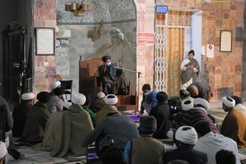 تصاویر/ حوزہ علمیہ جامعہ المنتظر لاہور میں ایام فاطمیہ کی مناسبت منعقد مجلس عزاء کی تصویری جھلکیاں