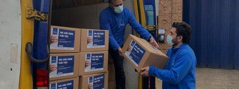 کمکرسانی مسلمانان به نیازمندان جنوب لندن در شرایط قرنطینه شدید کرونا