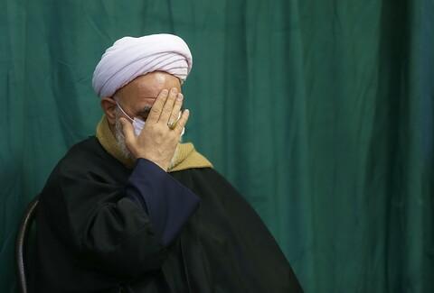 تصاویر/ مراسم سوگواری ایام شهادت حضرت زهرا(س) در بیوت مراجع و علما