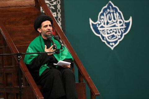 تصاویر/ مراسم عزاداری شب شهادت حضرت زهرا (سلاماللهعلیها) در حسینیه امام خمینی