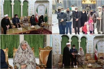 تصاویر/ کولمبیا کی خاتون نے حرم حضرت معصومہ (س) میں اسلام قبول کر لیا