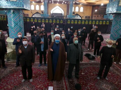 مراسم عزاداری در شهر محمدیه قزوین