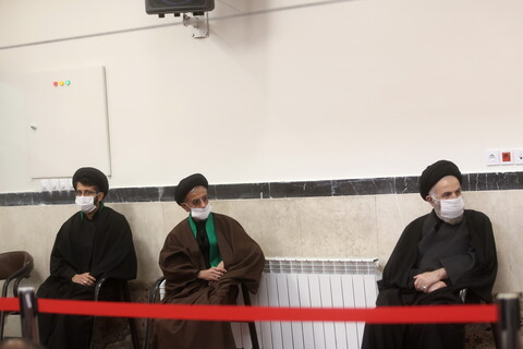 تصاویر / مراسم عزاداری مراجع تقلید در روز شهادت حضرت فاطمه زهرا (س)