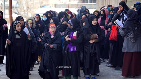 منفی 15 ڈگری ٹھنڈ کے باوجود کرگل میں ایام فاطمیہ کی عزاداری و فضا سوگوار
