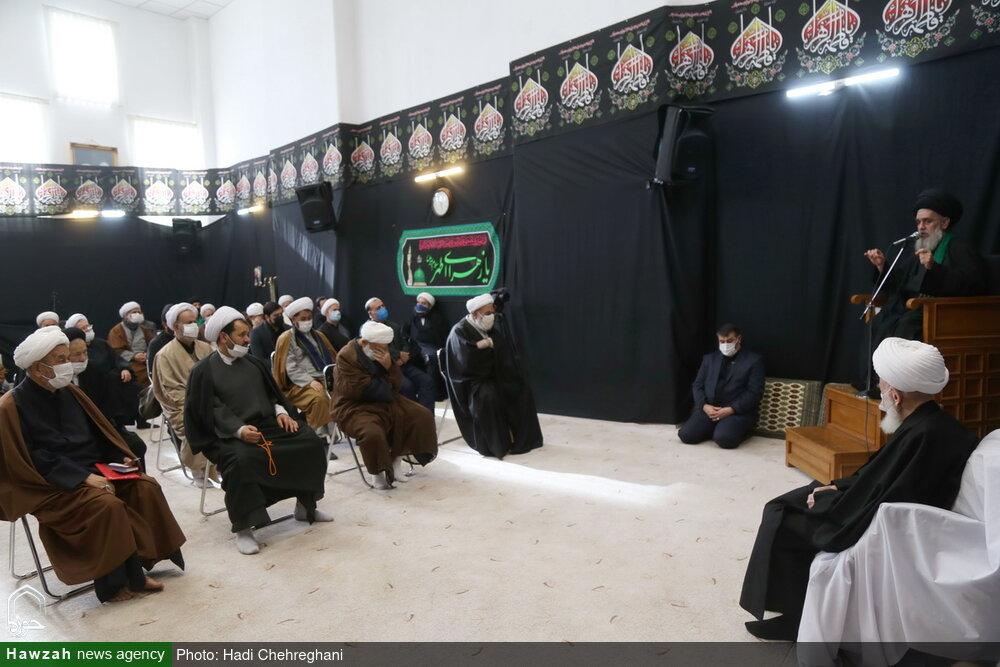 مراسم سوگواری شهادت حضرت زهرا(س) در بیوت مراجع و علما + فیلم