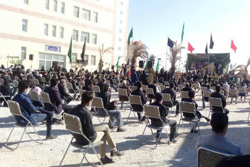 تصاویر/ تشییع و تدفین شهید گمنام در دانشگاه علم و هنر یزد