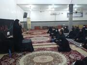 اعزام طلاب خواهر اهوازی به مناطق حاشیهای اهواز برای اقامه عزای مادر سادات+عکس
