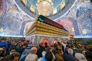 تصاویر/ حال و هوای حرم حضرت امیرالمومنین(ع) در روز شهادت حضرت فاطمه زهرا(س)