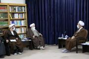 تصاویر/ دیدار اعضای موسسه فرهنگی - تربیتی آوای توحید با آیت الله اعرافی