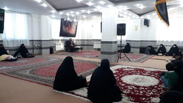 تصاویر/ مراسم عزاداری شهادت حضرت فاطمه زهرا(س) در حوزه علمیه خواهران شهرستان بناب