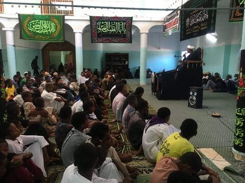 عزاداری شیعیان شهر ماژونگا در ماداگاسکار به مناسبت شهادت حضرت زهرا(س)