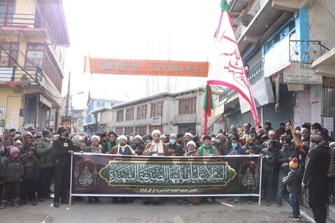 انجمن جمعیت العلماء اثنا عشریہ کرگل, لداخ کے زیر اہتمام شہادت حضرت فاطمہ زہرا (س) کے مناسبت پر ماتمی جلوس برآمد