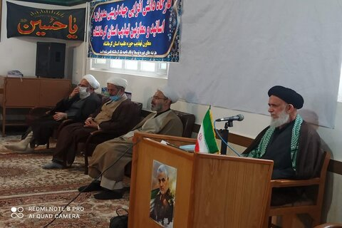 رزمایش معاونین تهذیب مدارس علمیه شرق کرمانشاه از نگاه دوربین