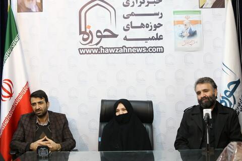 تصاویر / حضور خانواده شهید محسن فخری زاده در خبرگزاری رسمی حوزه
