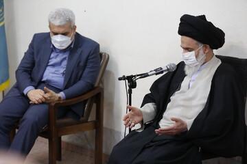 تصاویر/ دیدار معاون علمی رئیس جمهور با آیت الله حسینی بوشهری