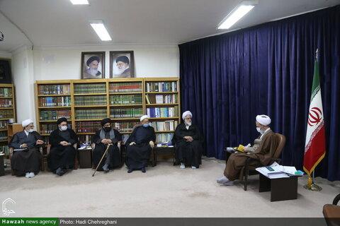 بالصور/ أعضاء أمانة مؤتمر أبي طالب (ع) الدولي يلتقون بآية الله الأعرافي بقم المقدسة