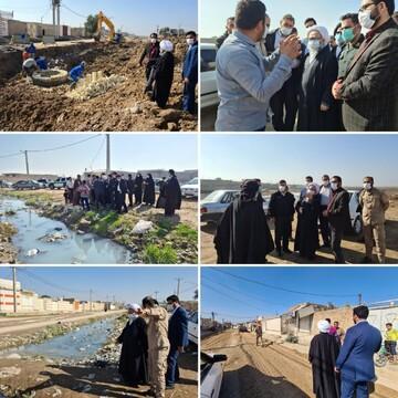 بازدید حجتالاسلاموالمسلمین حیدری از پروژههای در حال اجرا منطقه کوی سیاحی اهواز