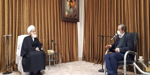 وزیر صمت در دیدار با آیتالله  العظمی نوری همدانی