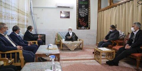 آیت الله العظمی مکارم شیرازی در دیدار وزیر صمت