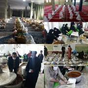 توزیع ۴۸۰۰ بسته معیشتی و غذای گرم بین نیازمندان یاسوجی + فیلم