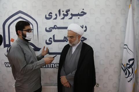 تصاویر/بازدید نماینده ولی فقیه کردستان از سامانه خبری حوزه