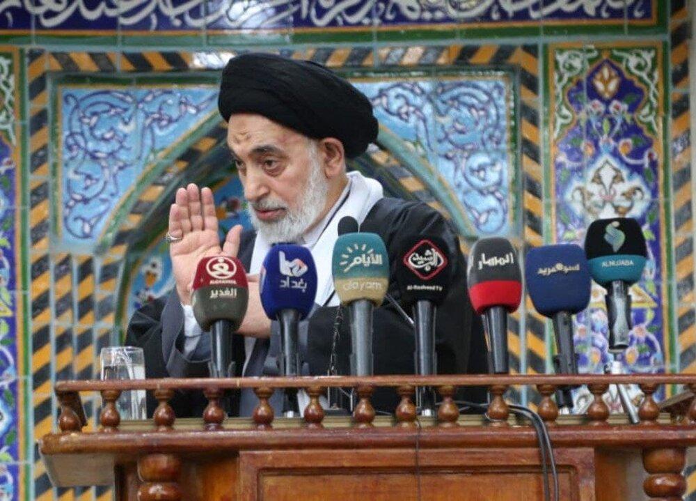 امام جمعه نجف: آمریکا ترامپ را به عراق تحویل دهد