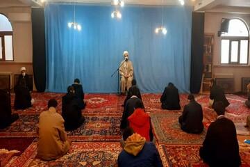 تصاویر/ مراسم افتتاحیه ترم دوم درسی مدرسه علمیه امام خمینی (ره) خوی