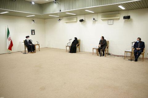 دیدار خانواده شهید فخری زاده با رهبر معظم انقلاب
