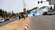 حمله گسترده نیروهای نظامی به تظاهرکنندگان در پایتخت نیجریه +تصاویر
