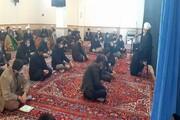 تصاویر/ عزاداری طلاب و روحانیون خوی در وفات حضرت ام البنین (س)